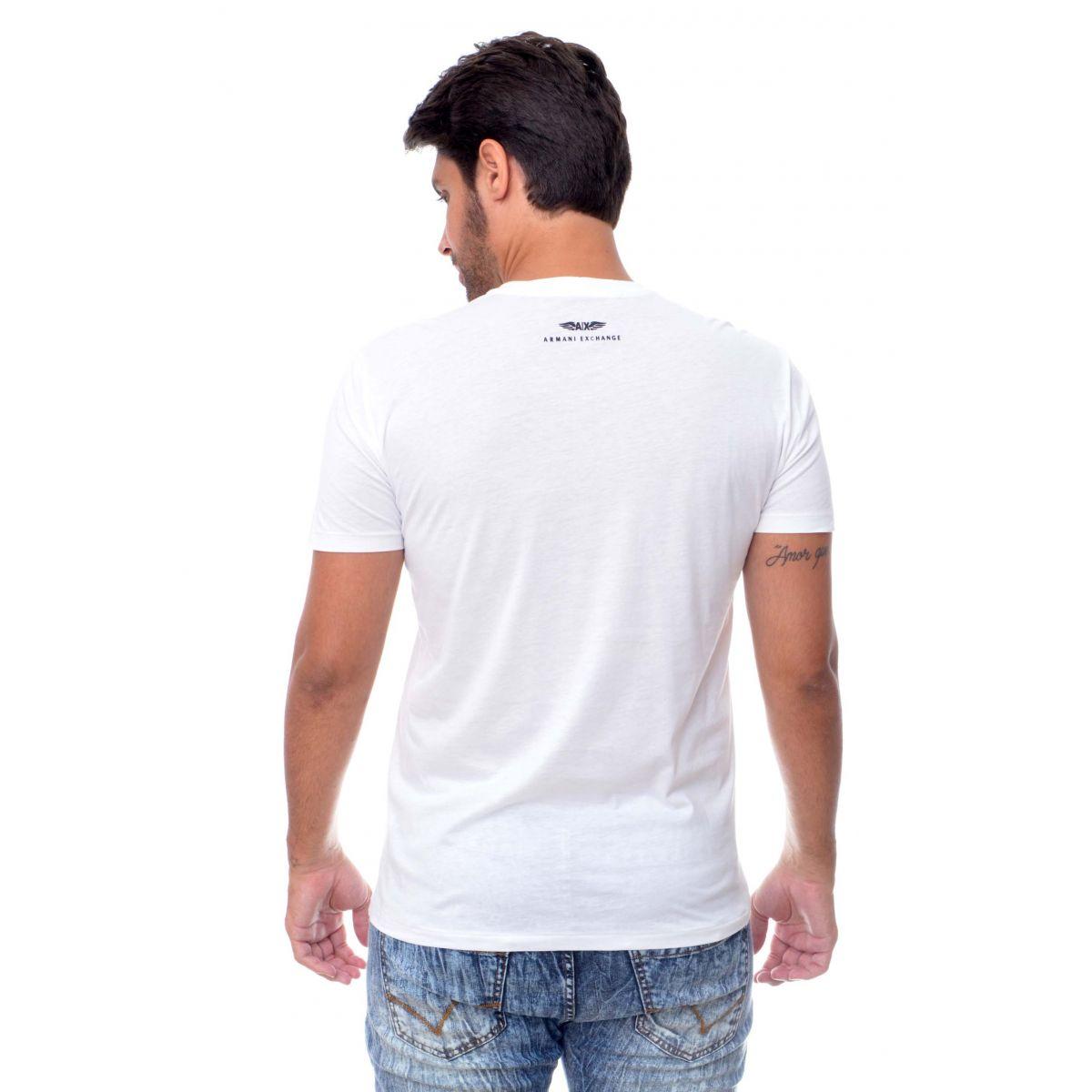 Camiseta Armani Exchange  Branca  - Ca Brasileira