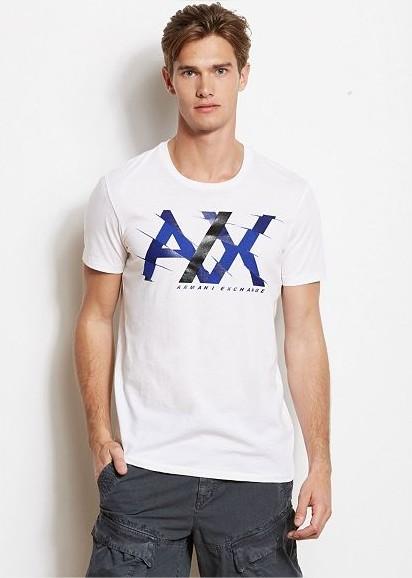 Camiseta Armani Exchange Creased Logo Branca  - Ca Brasileira