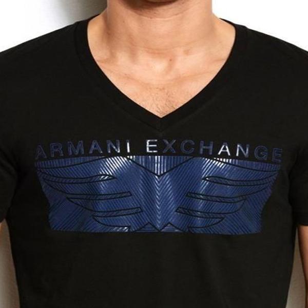Camiseta Armani Exchange Eagle Box Marinho  - Ca Brasileira