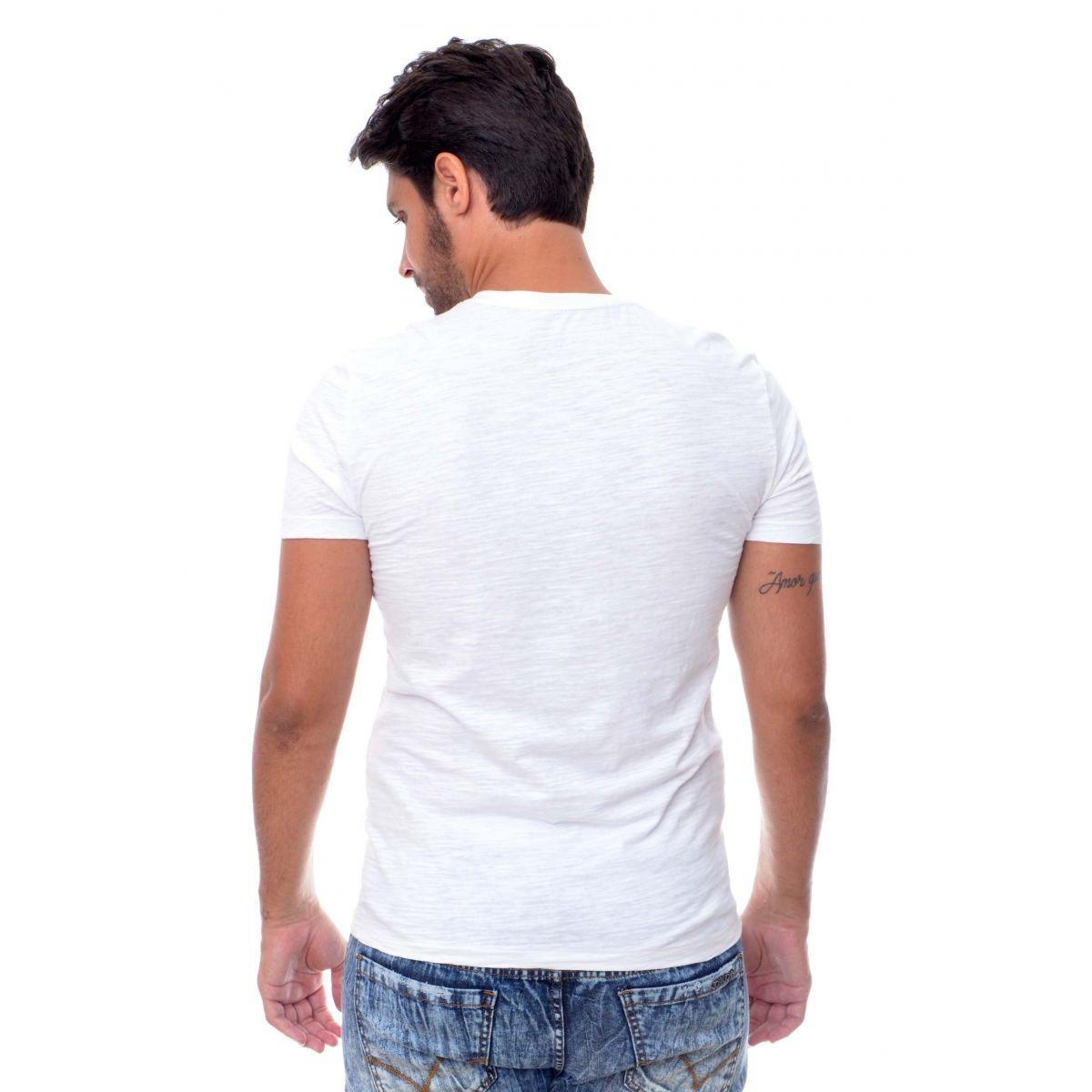 Camiseta Flame Armani Exchange  Eagle Branca  - Ca Brasileira