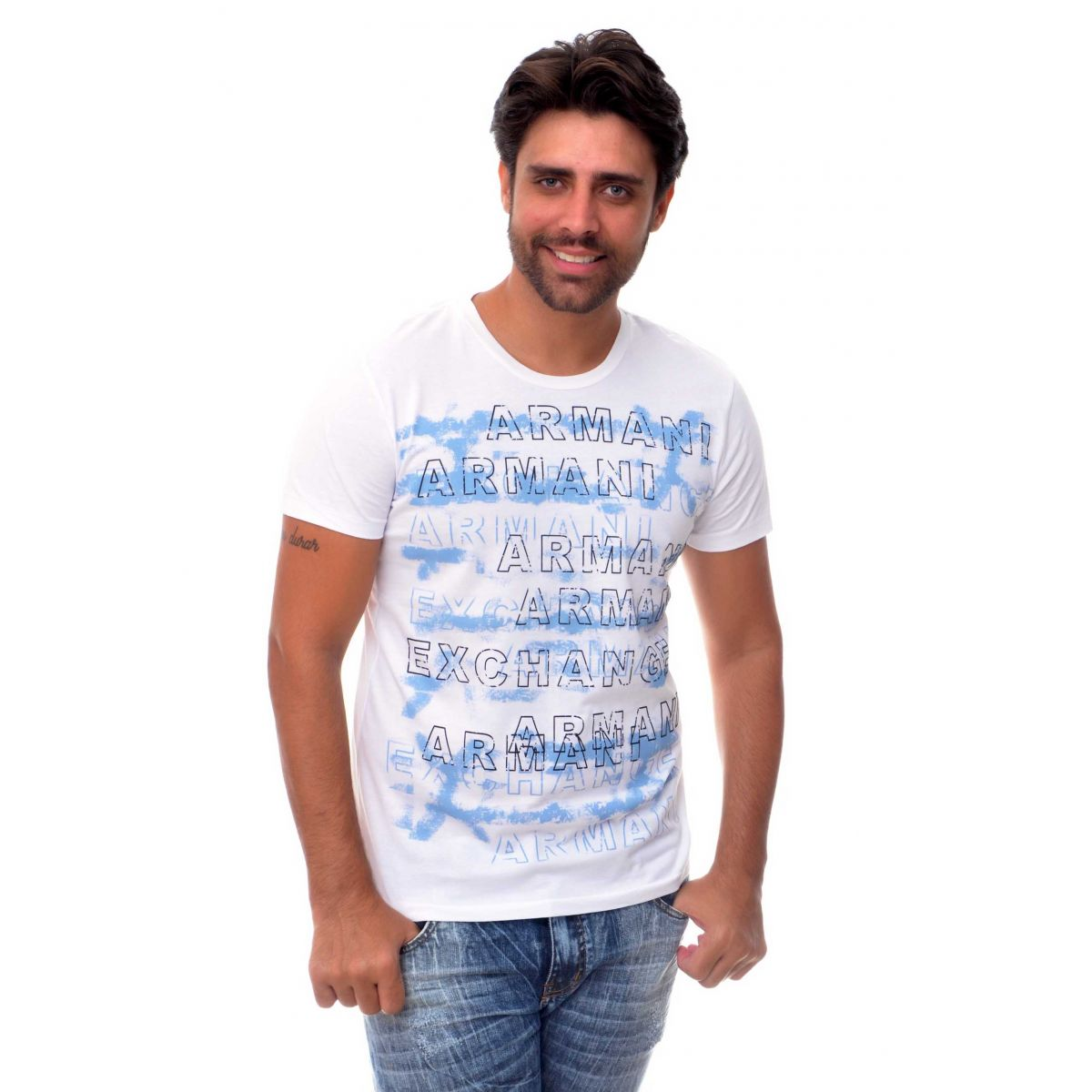 Camiseta Armani Exchange Letters Branca