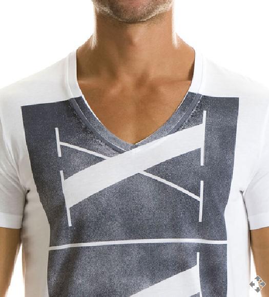Camiseta Armani Exchange logo vintage Branca  - Ca Brasileira