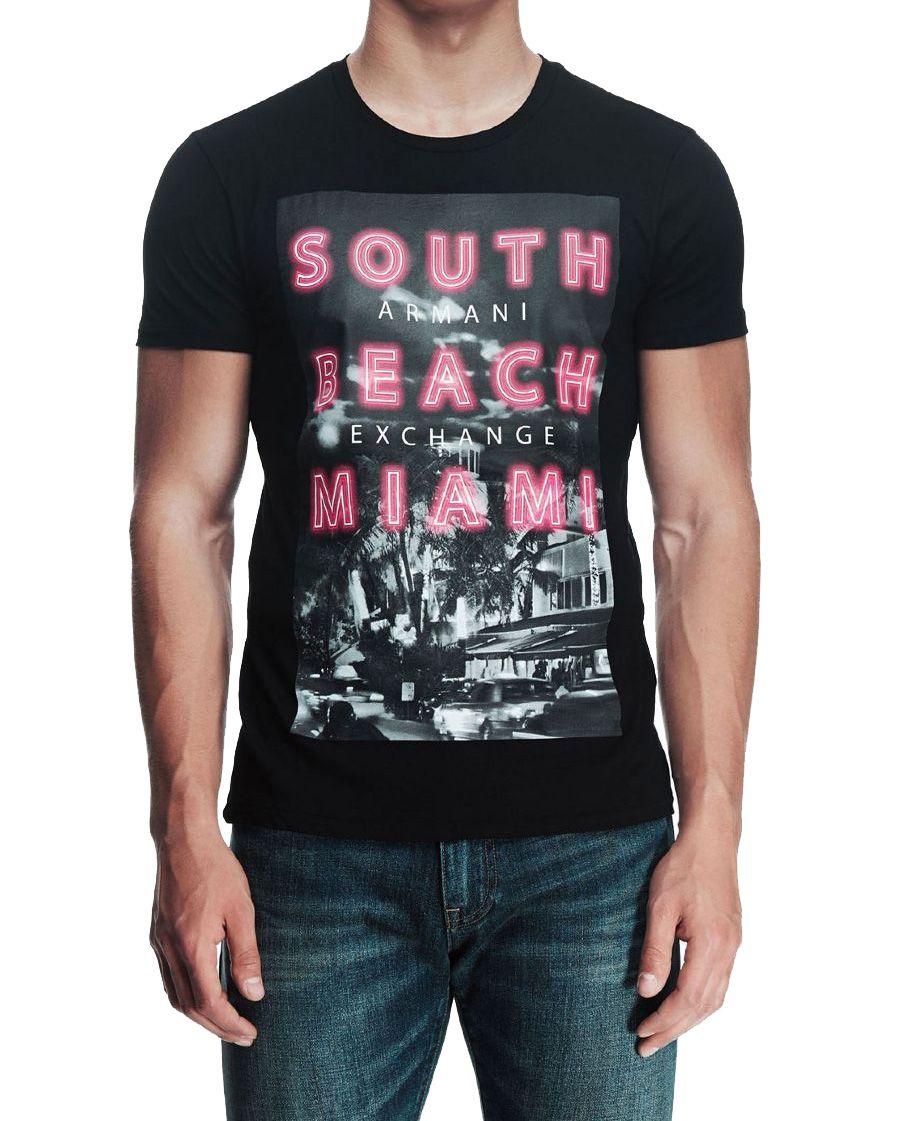 Camiseta Armani Exchange Miami Preta  - Ca Brasileira