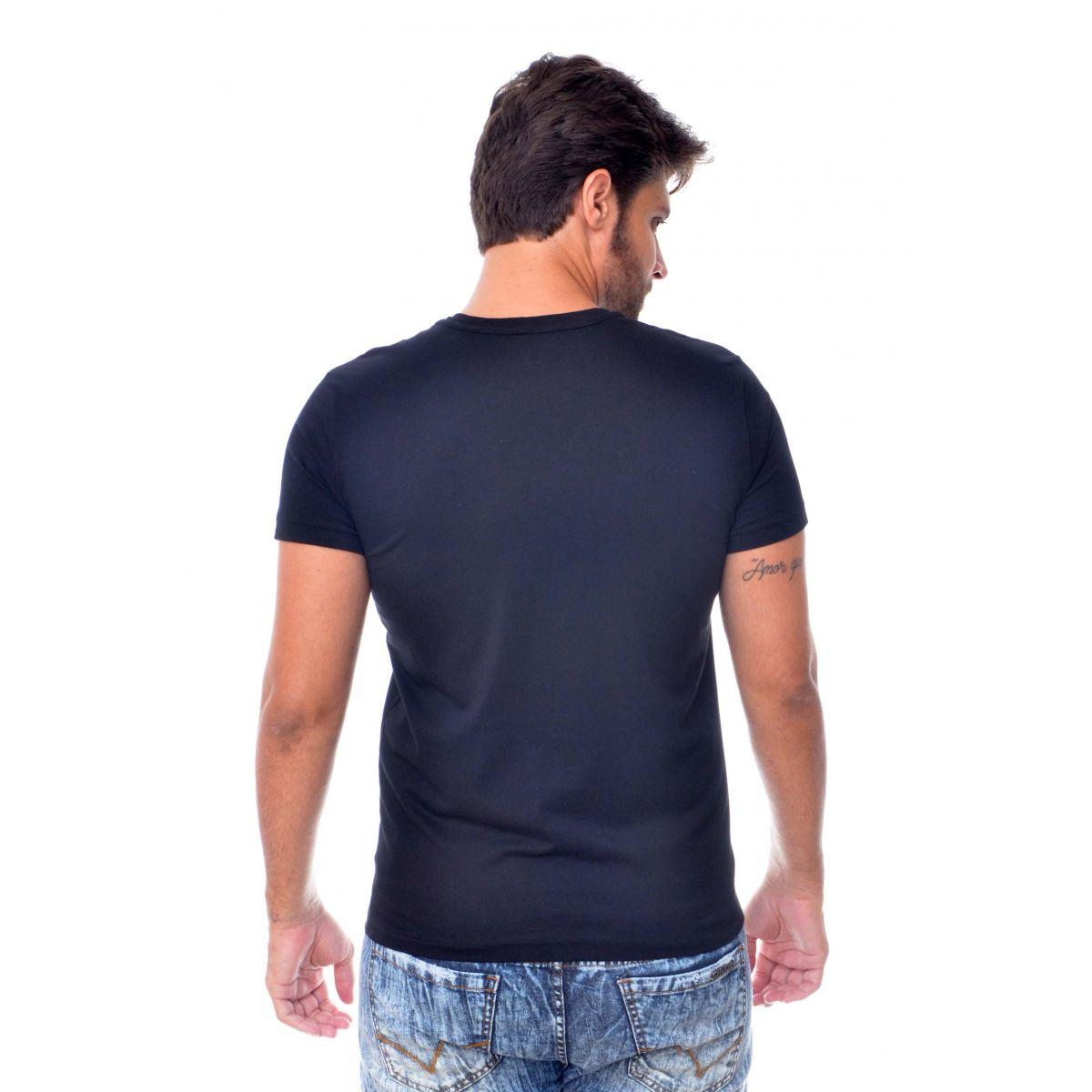 Camiseta Armani Exchange Watch Preta  - Ca Brasileira
