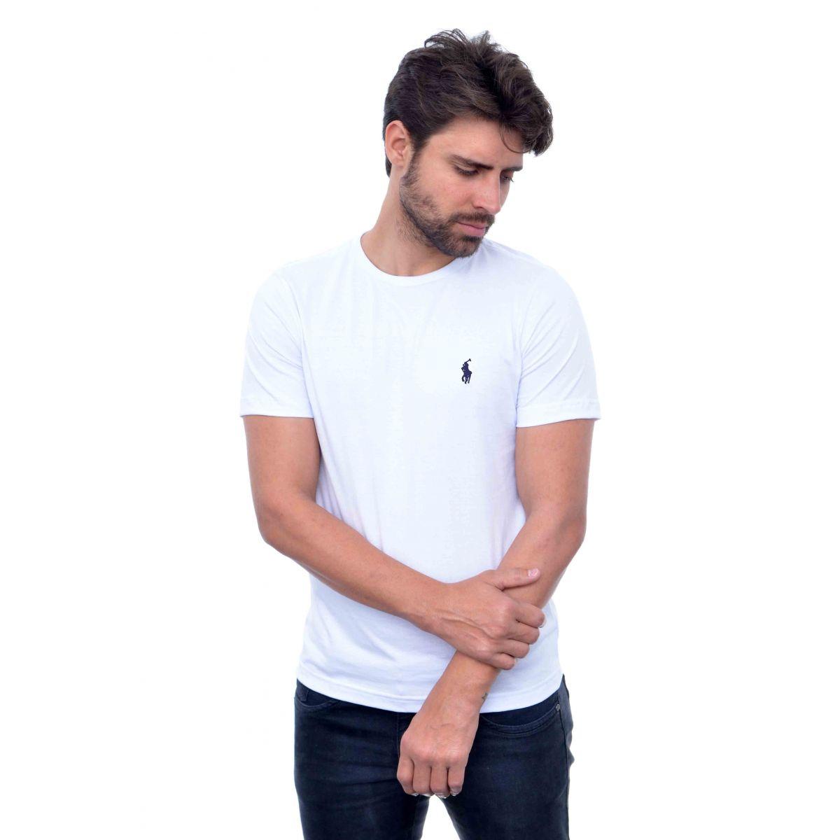 Camiseta Basic Ralph Lauren Branca  - Ca Brasileira