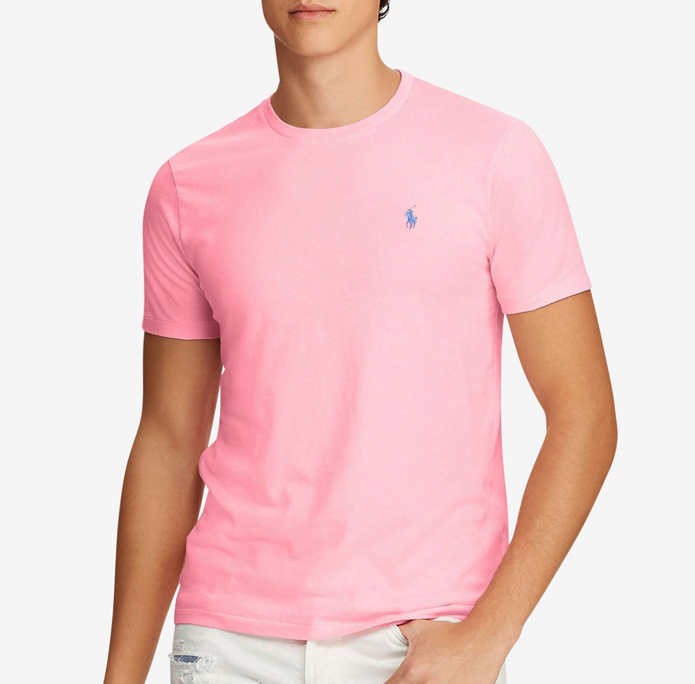 Camiseta Basic Ralph Lauren Rosa / Turquesa  - Ca Brasileira