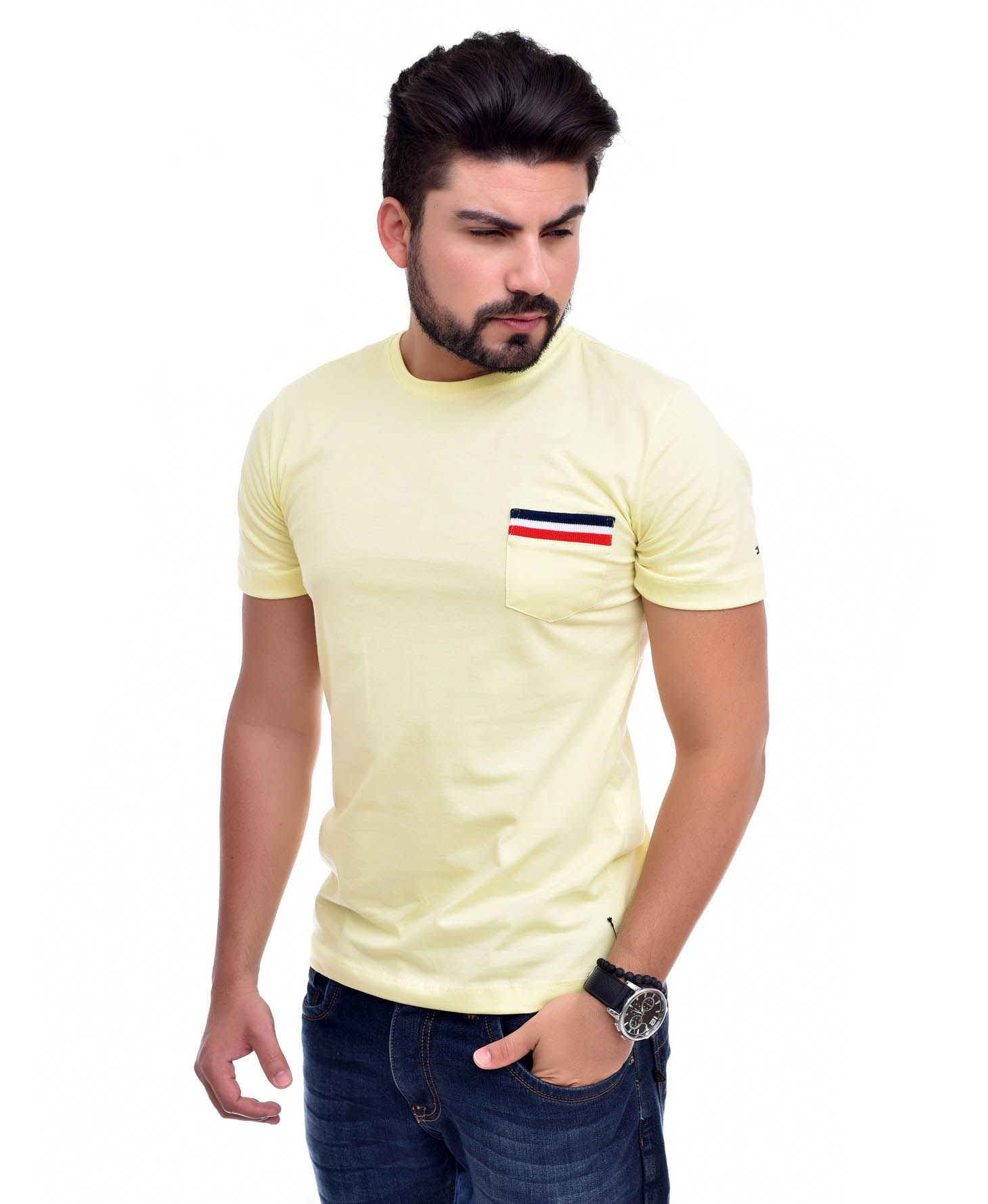 Camiseta Bolso TH Amarelo