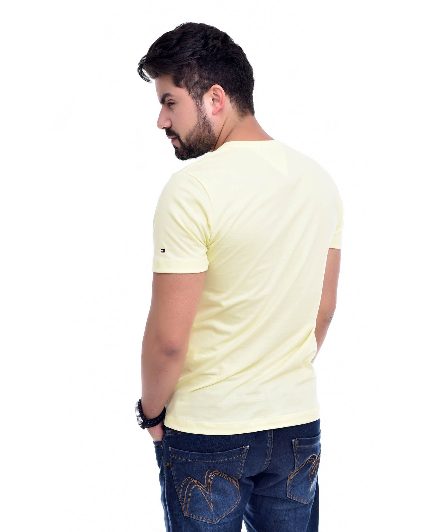 Camiseta Bolso TH Amarelo   - Ca Brasileira
