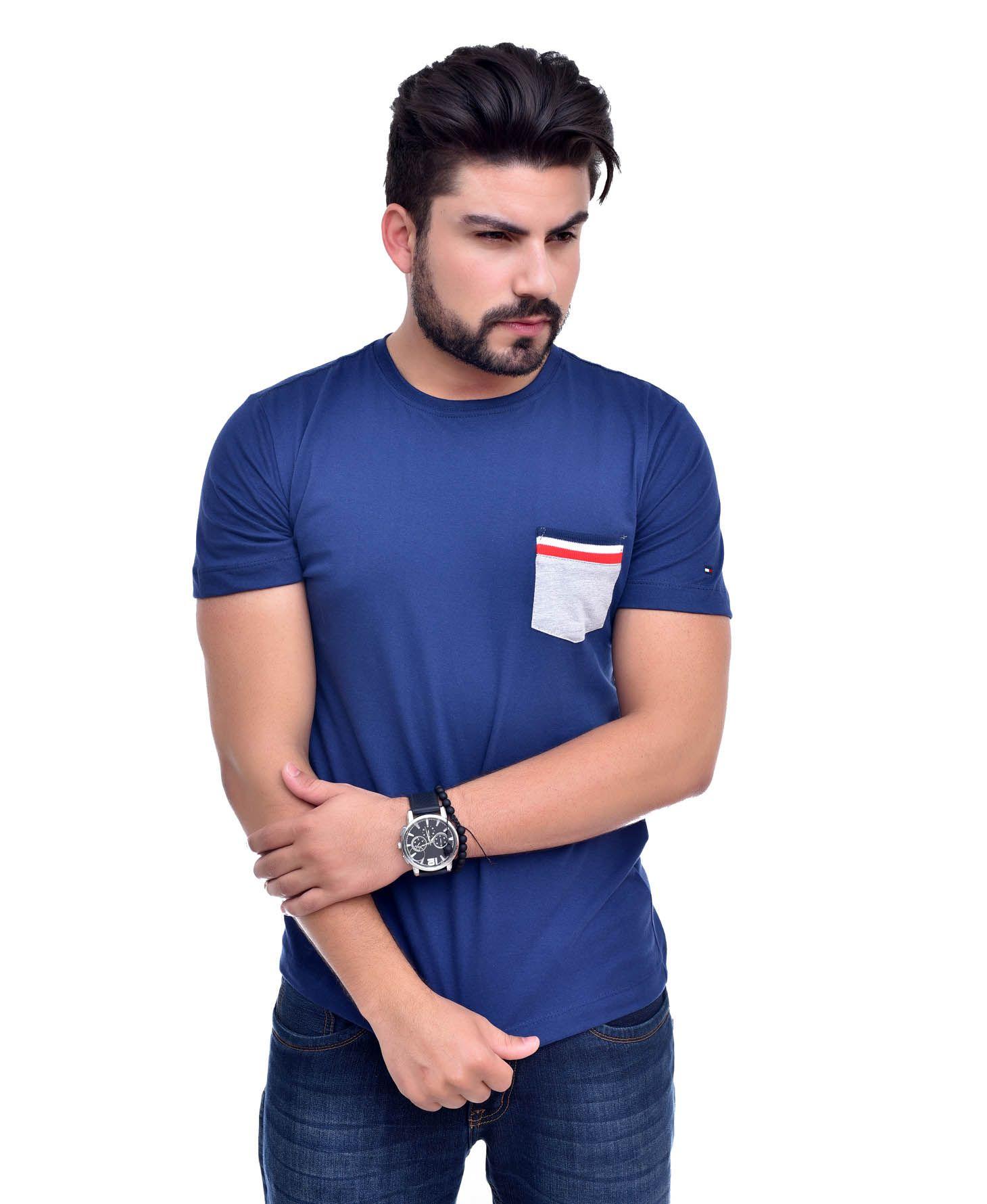 Camiseta Bolso TH Azul Marinho/MC