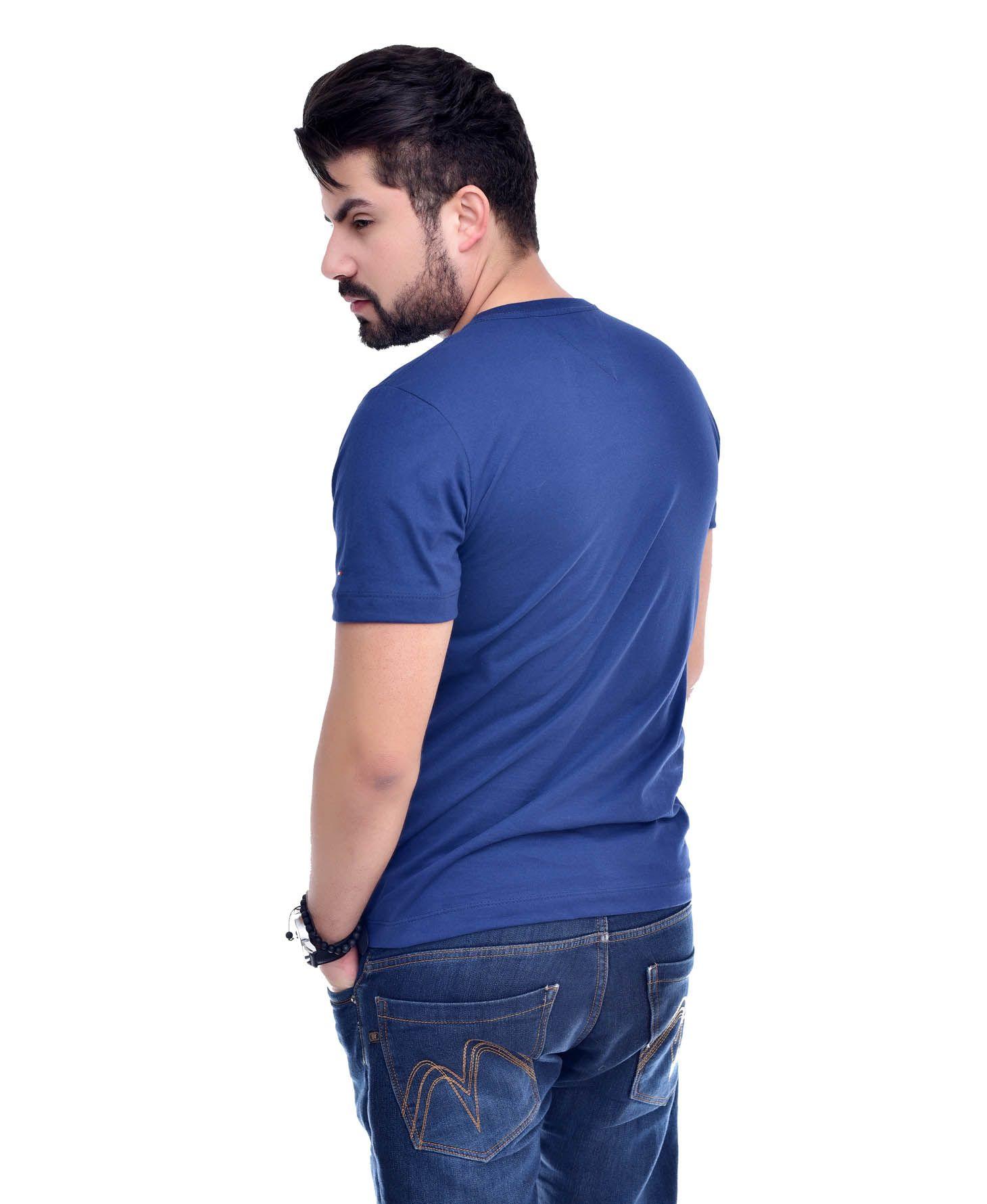 Camiseta Bolso TH Azul Marinho/MC  - Ca Brasileira