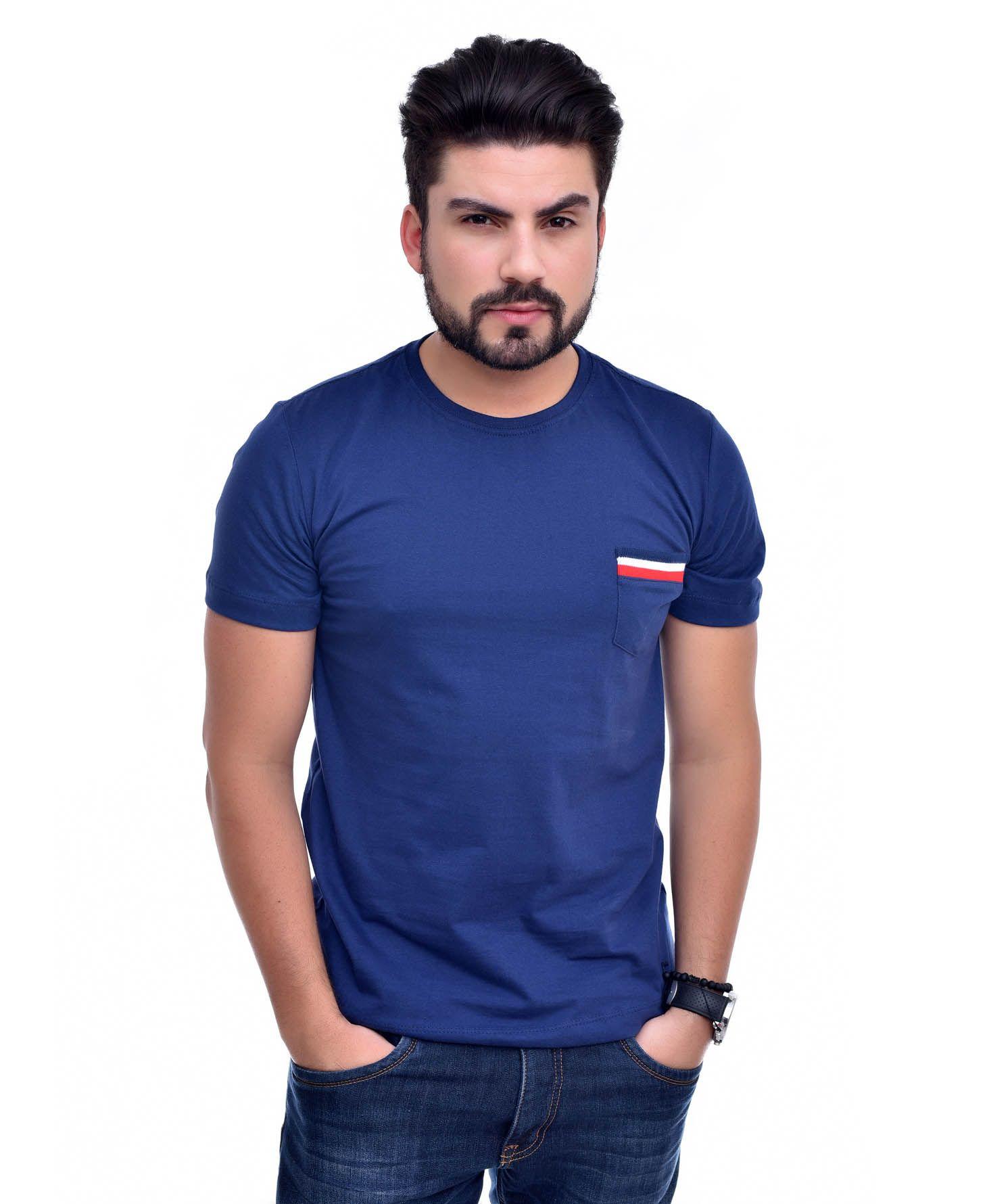 Camiseta Bolso TH Marinho / MR  - Ca Brasileira