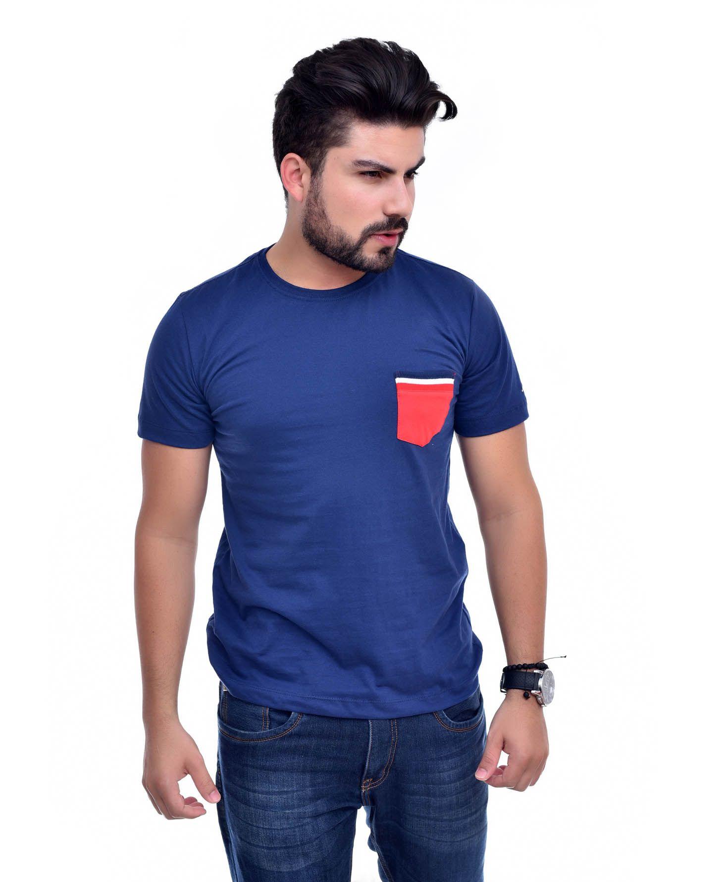 Camiseta Bolso TH Marinho / VR  - Ca Brasileira