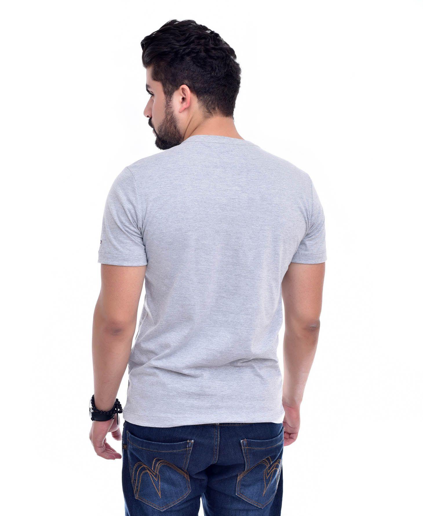 Camiseta Bolso TH Mescla Claro / ME  - Ca Brasileira