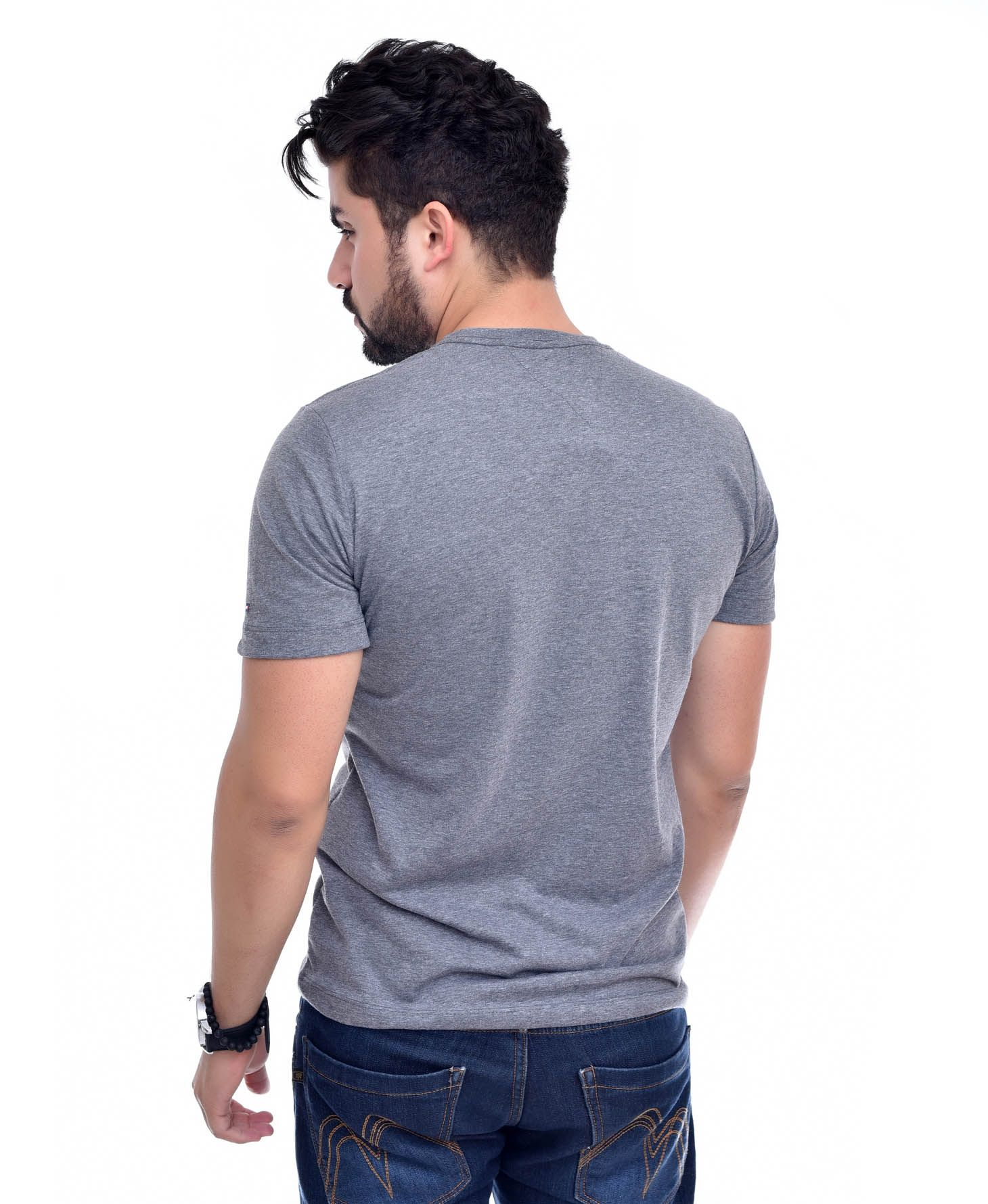 Camiseta Bolso TH Mescla Escuro / ME  - Ca Brasileira