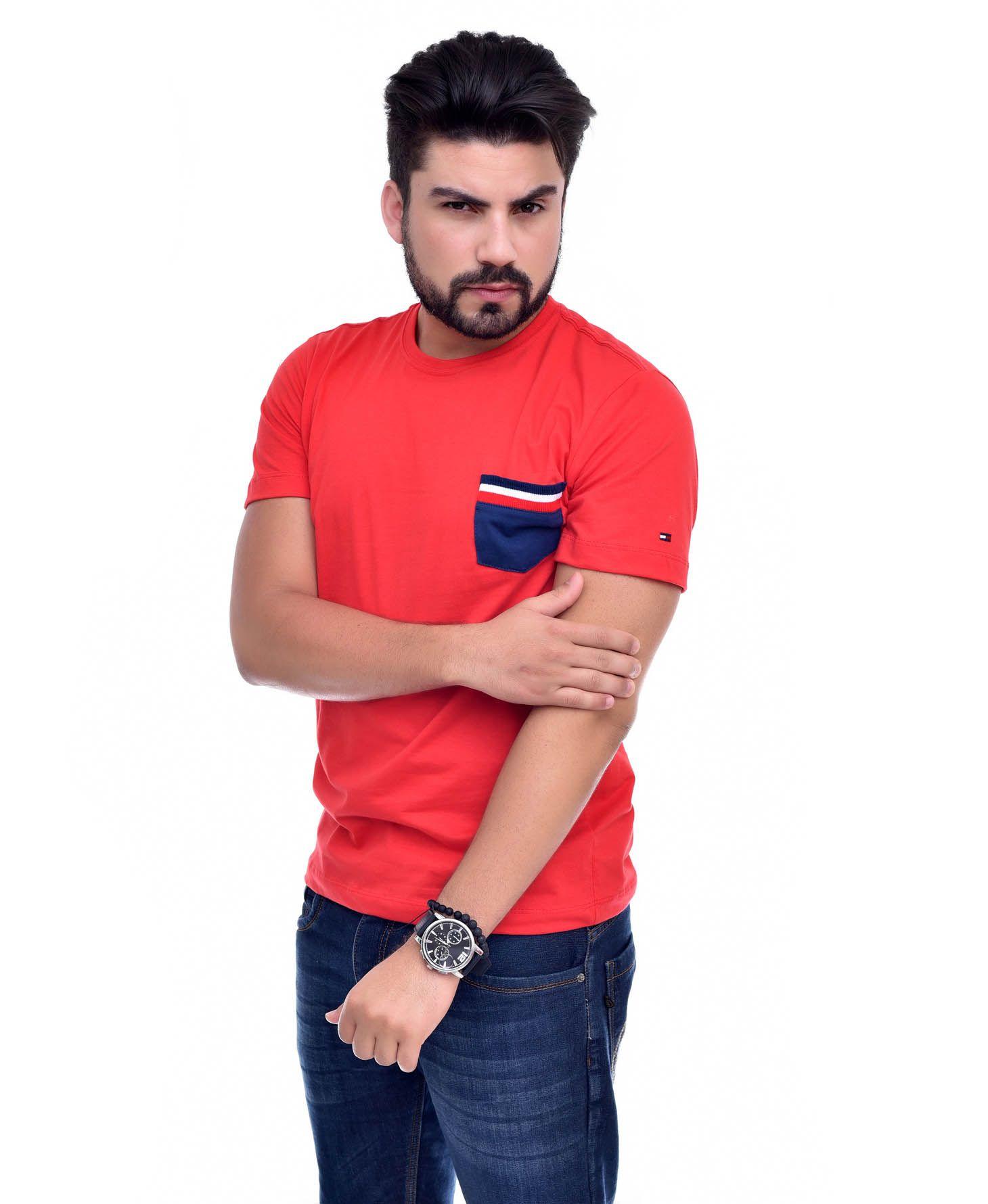 Camiseta Bolso TH Vermelho / MR