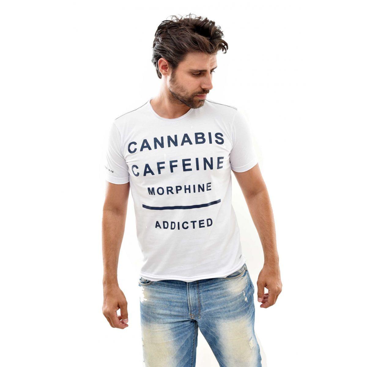 CAMISETA SK caffeine BRANCA  - Ca Brasileira