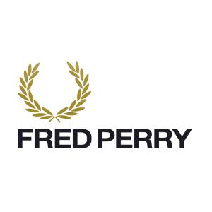 CAMISETA FRED PERRY DOT FOLHAS PRETO - SLIM FIT  - Ca Brasileira
