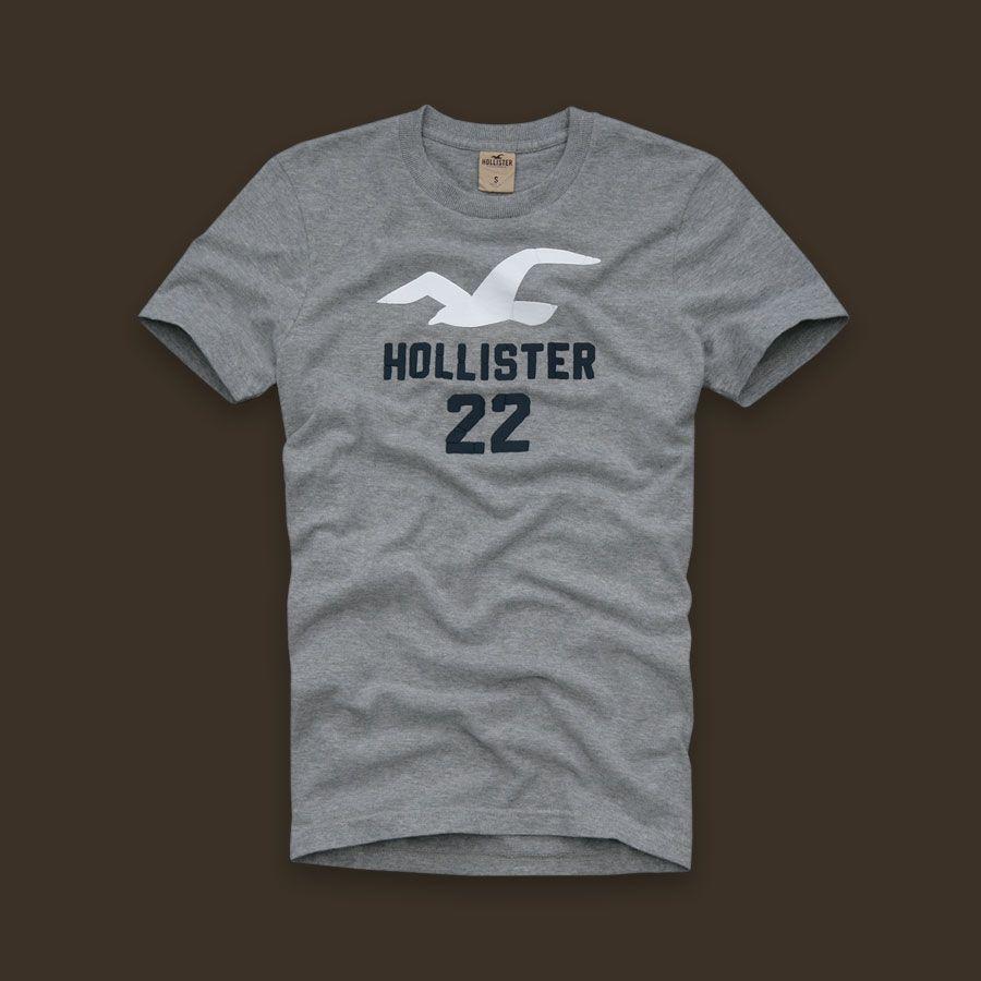 Camiseta HOllister 22 Mescla Medio  - Ca Brasileira
