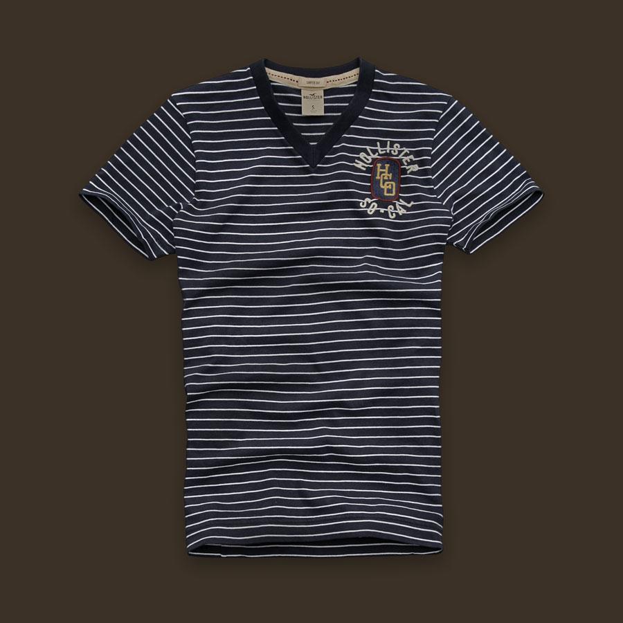 Camiseta Hollister Stripe Navy  - Ca Brasileira