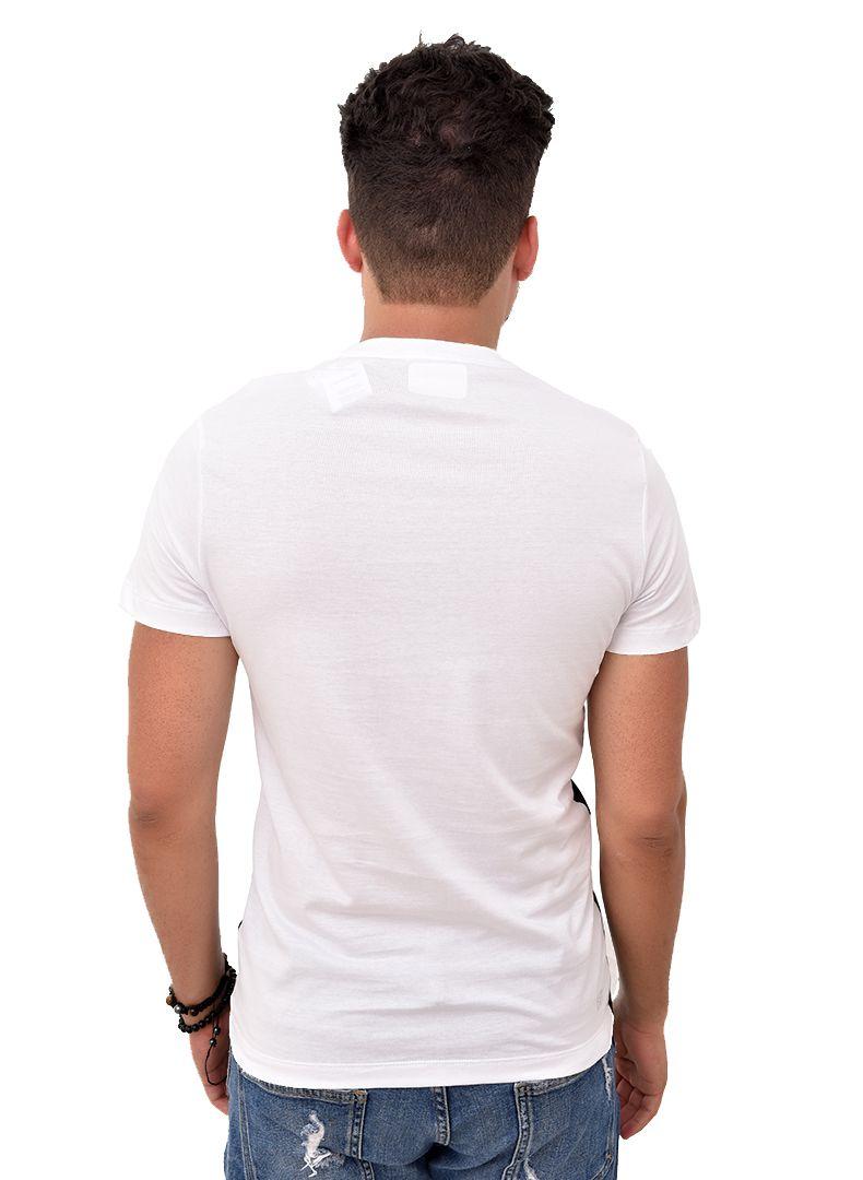 Camiseta L-06 Branca / Preta   - Ca Brasileira