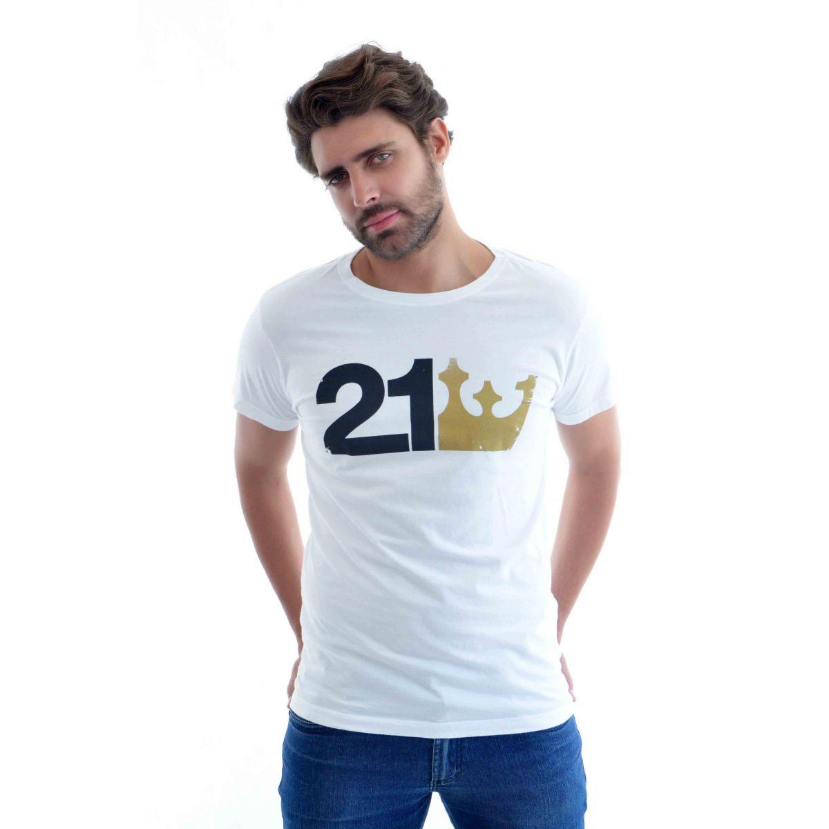Camiseta Osklen 21 Branca  - Ca Brasileira