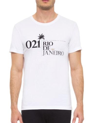 Camiseta Osklen 21 Coqueiro Branca  - Ca Brasileira