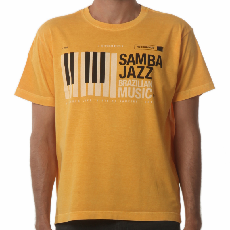 Camiseta Osklen Samba Mostarda  - Ca Brasileira