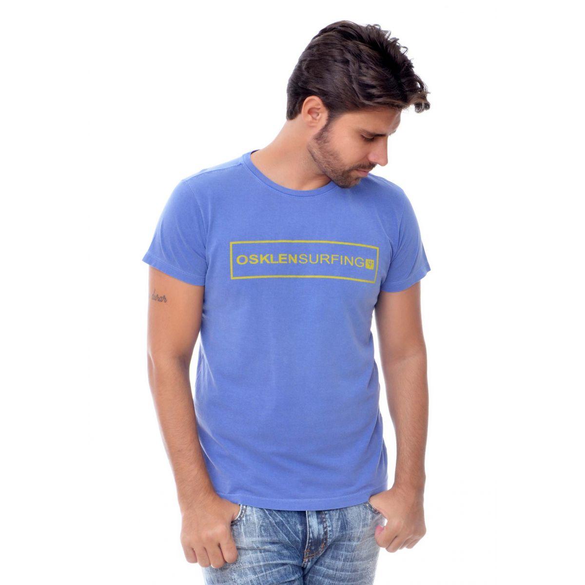 Camiseta Osklen Surfing Azul  - Ca Brasileira