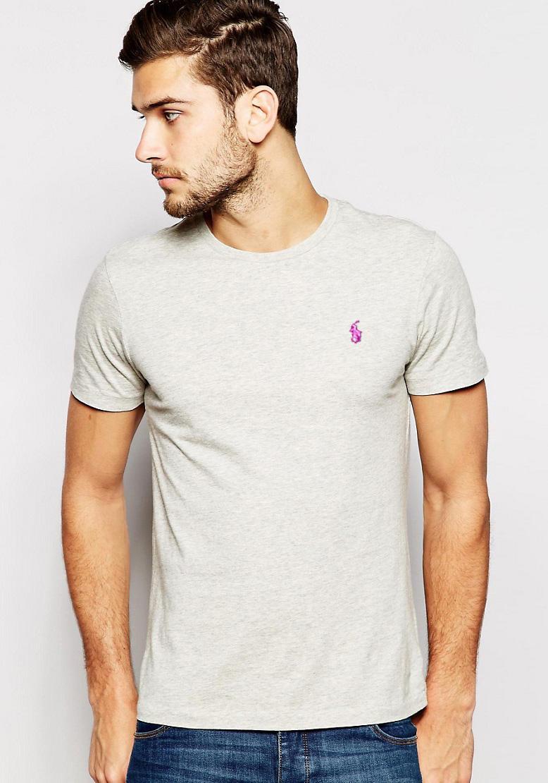 Camiseta Basic Ralph Lauren Mescla Claro  - Ca Brasileira