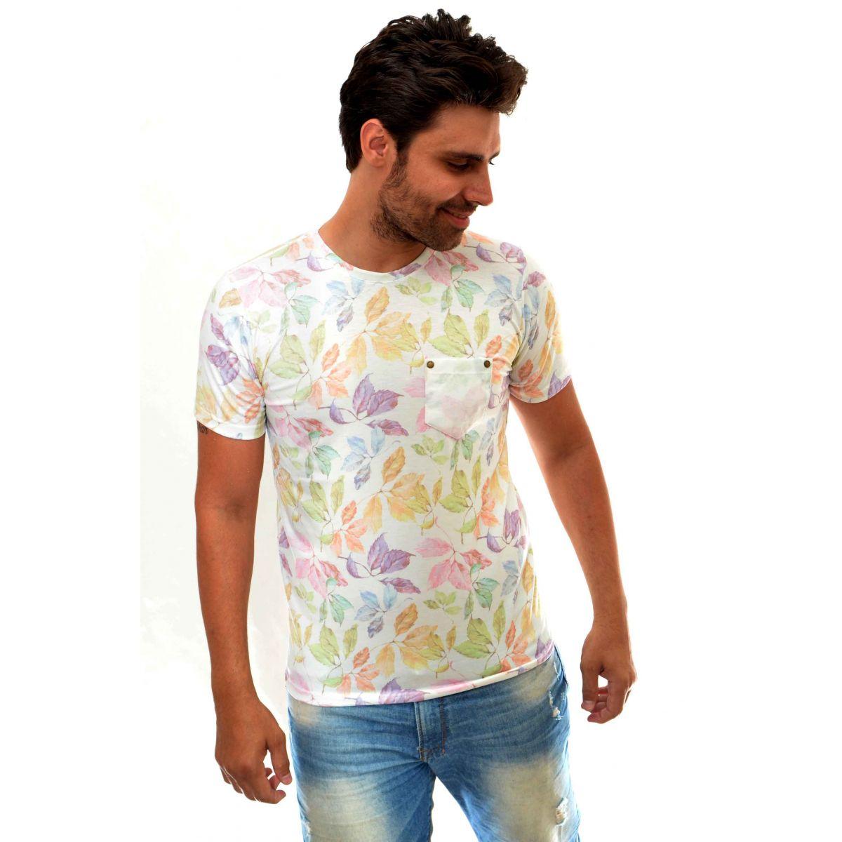 Camiseta Reserva Bolso Flowers Branca  - Ca Brasileira