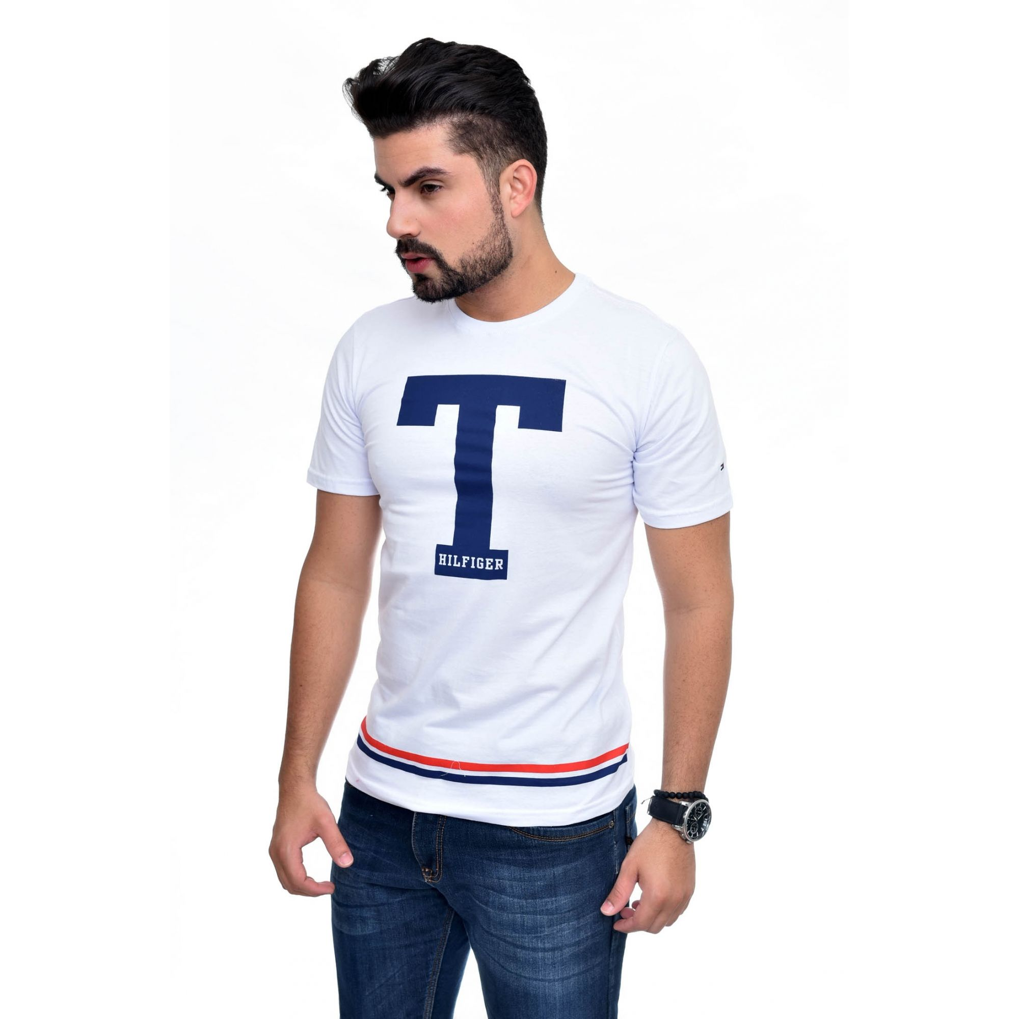Camiseta TH Big T Branca