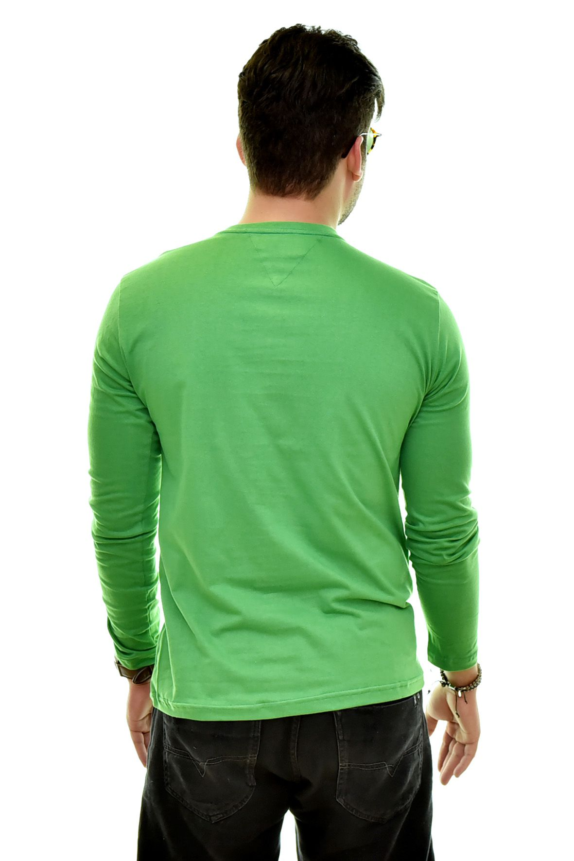 Camiseta TH Manga Longa Verde   - Ca Brasileira