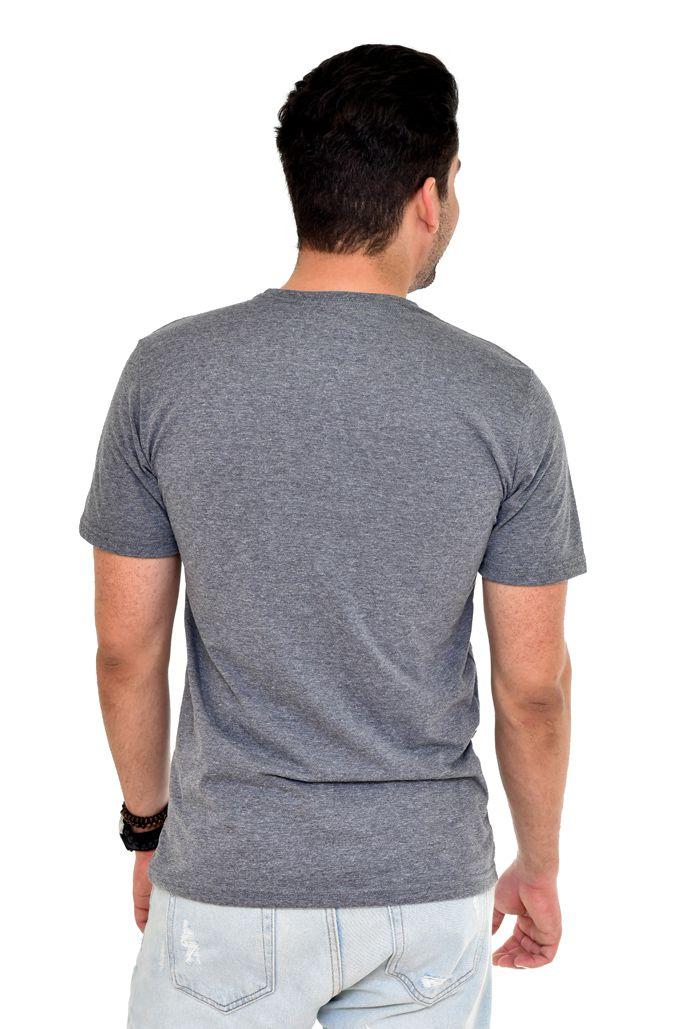 Camiseta TH Mescla Escuro NY - Custom Fit  - Ca Brasileira