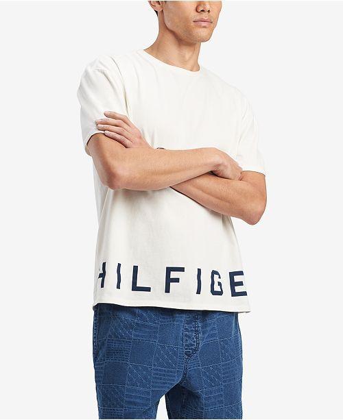 Camiseta TH Print Low Branca