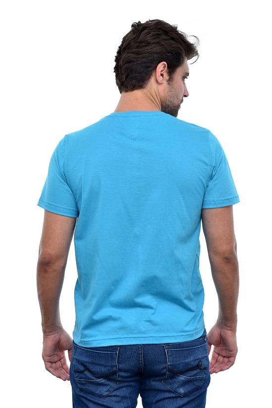 Camiseta Tommy Hilfiger Azul Turquesa  - Ca Brasileira