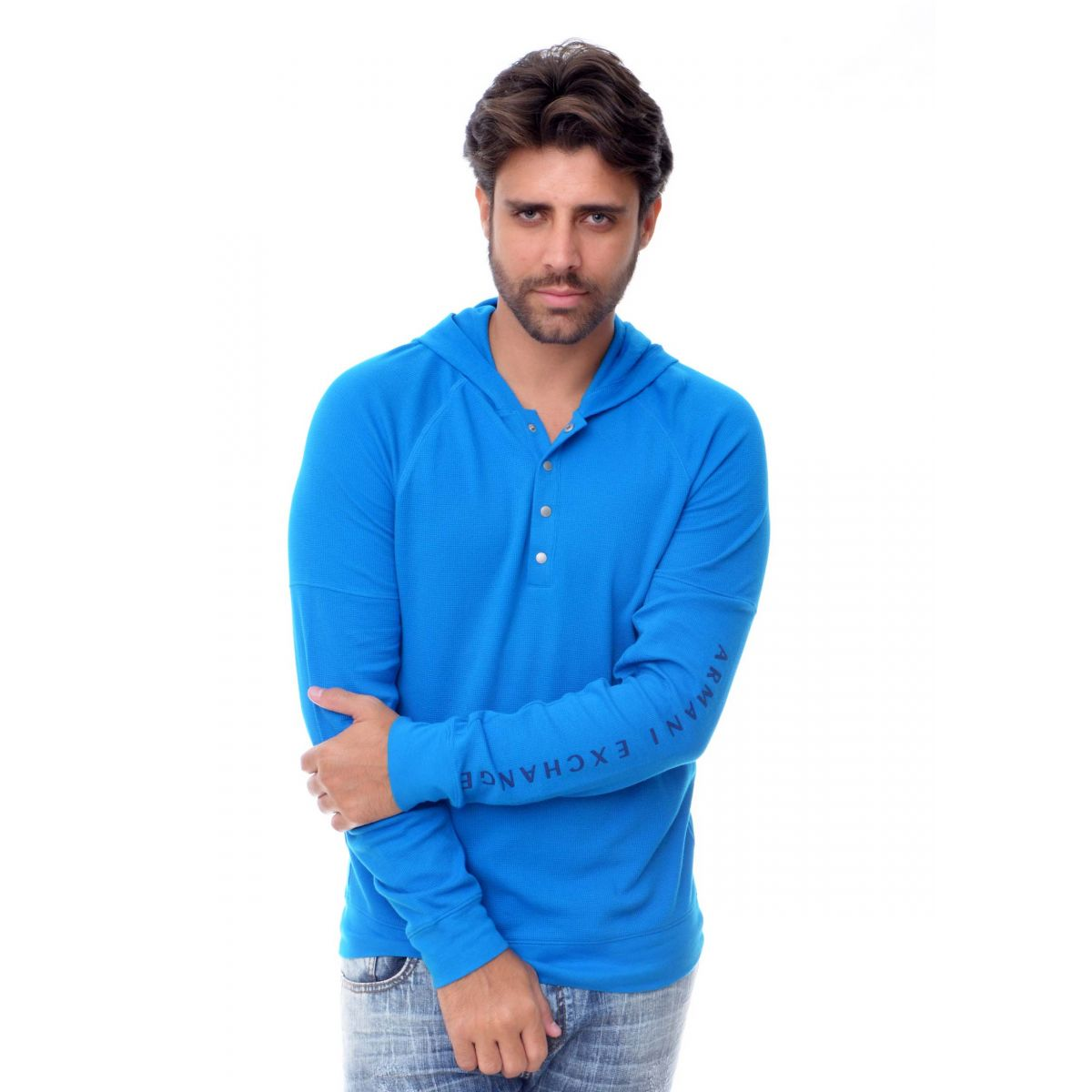 Casaco Armani Exchange Azul  - Ca Brasileira