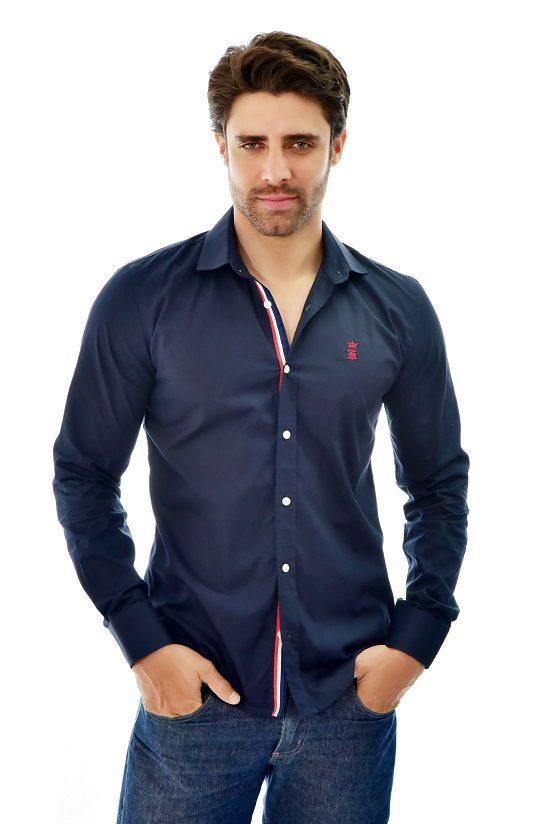 Camisa Social SK Style Marinho  - Ca Brasileira