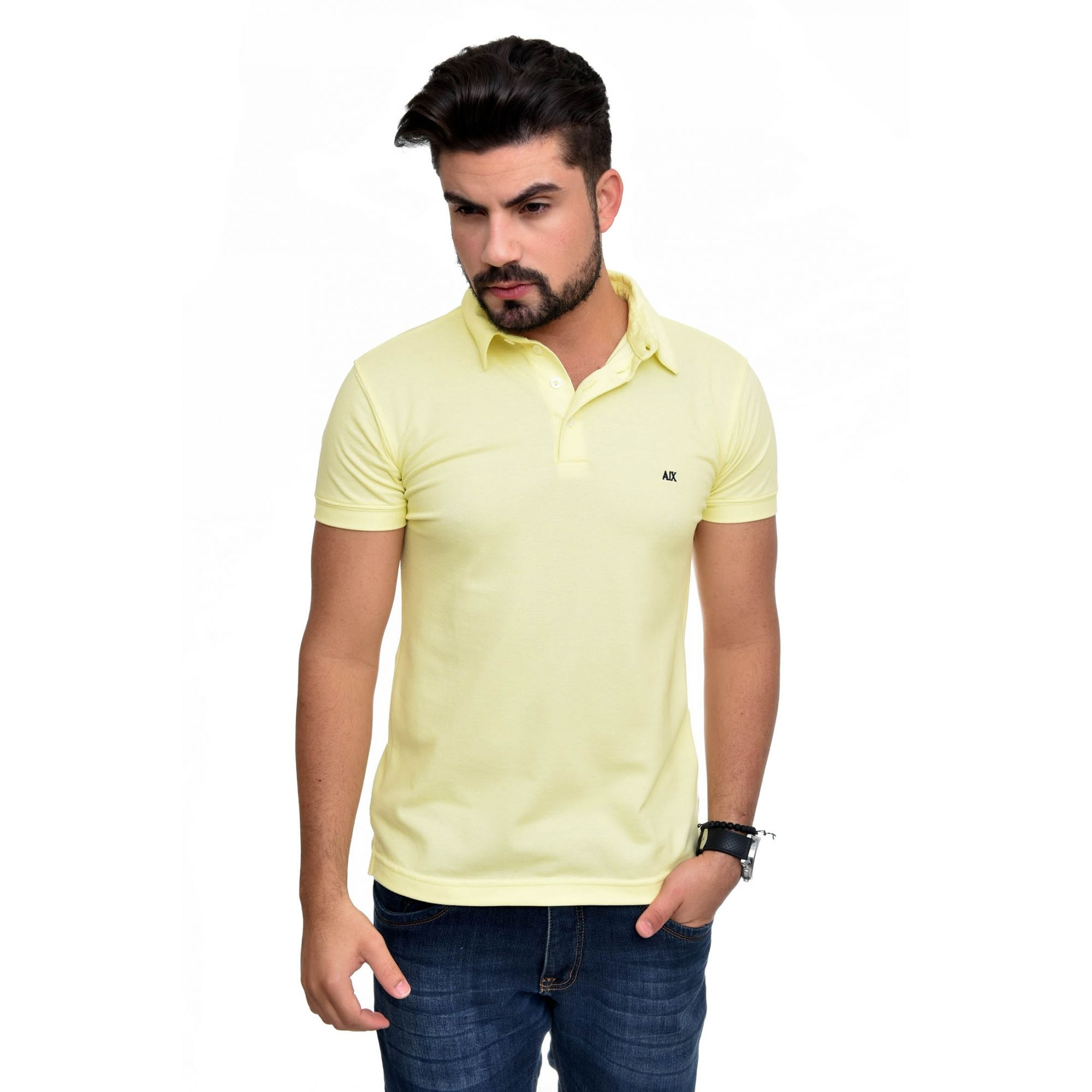 Polo Armani Exchange Amarela
