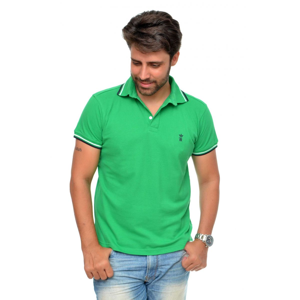 Polo Sergio K Basic Verde