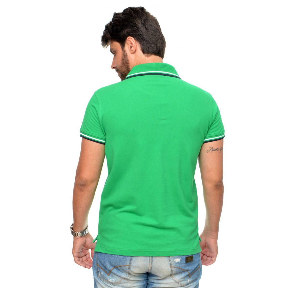 Polo Sergio K Basic Verde  - Ca Brasileira