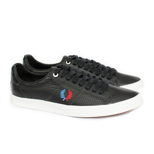 1c651c300cf SAPATÊNIS FRED PERRY HOWELLS PIQUET PRETO Fred Perry D-Industry ...