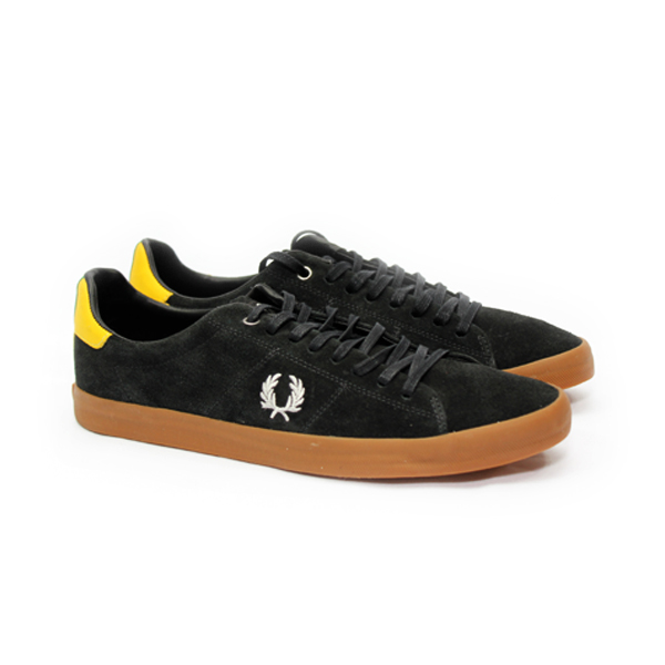 SAPATÊNIS  HOWELLS UNLINED SUEDE FRED PERRY PRETO  - Ca Brasileira