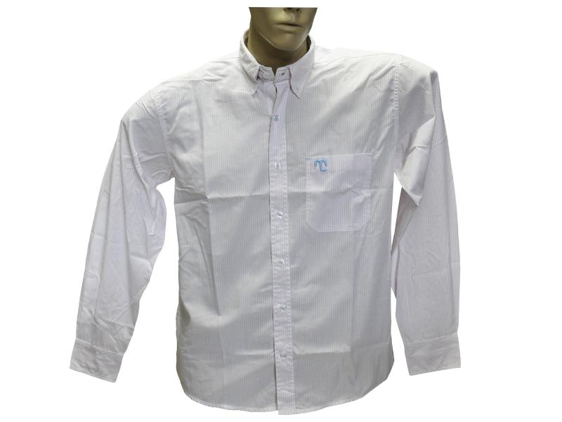 "Camisa Social Listrada Rosa ""M""  - Boutique Mangalarga"