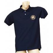 Camisa Polo Masculina Azul Marinho/Chancela Bege