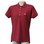 """Camisa Polo Feminina Vinho """"G"""""""