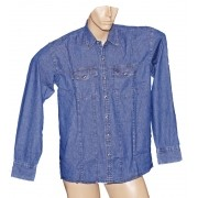 "Camisa Jeans Masculina ""G"""
