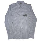 Camisa Top Premium Masculina Listras Cinza e Azul