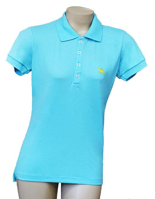 "Camisa Polo Feminina Verde Água ""P""  - Boutique Mangalarga"