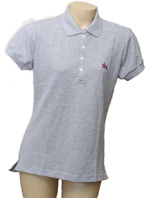 "Camisa Polo Feminina Cinza ""M""  - Boutique Mangalarga"