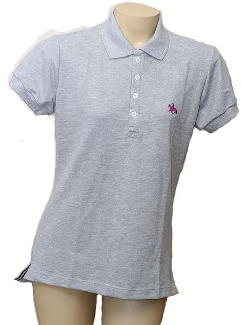 "Camisa Polo Feminina Cinza ""GG""  - Boutique Mangalarga"